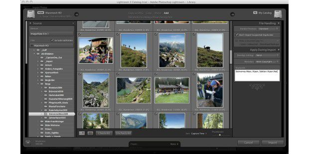 Adobe Photoshop Lightroom 3: ImportInterface