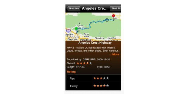 iPhone App Greatest Roads
