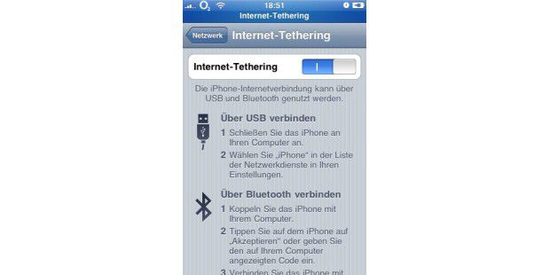 Internet Tethering an