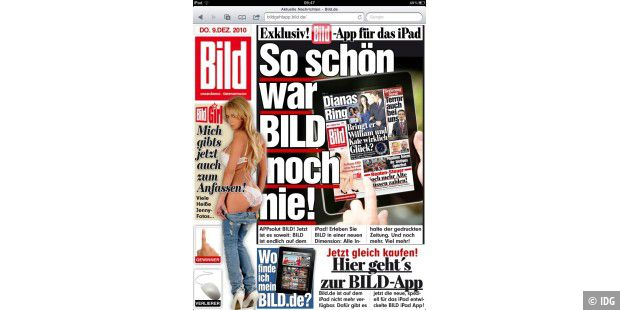 Bild.de Safari iPad