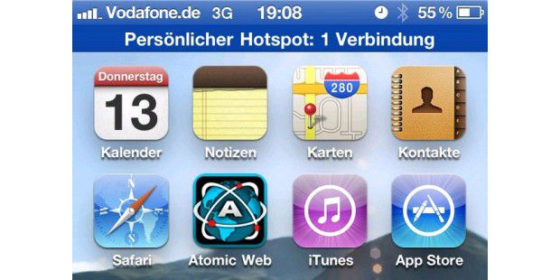 Teaser iOS 4.3 Hotspot iPhone