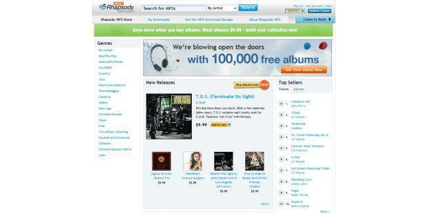 RealNetworks Rhapsody MP3-Store
