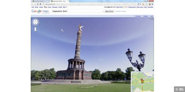 Google Street View Siegessäule Berlin Screenshot PNG
