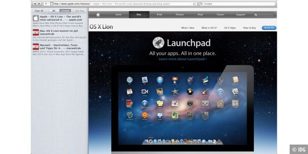 Mac-OS X Lion: Safari
