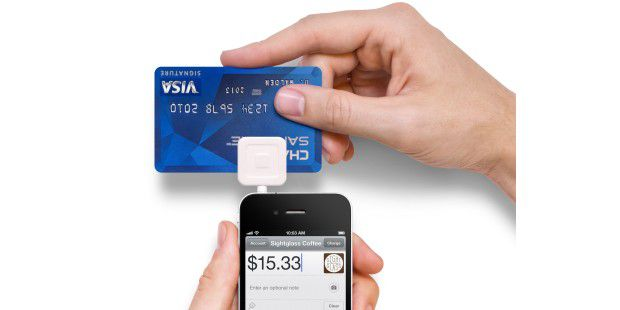 Square Kreditkarte Kartenleser iPhone Mobile Payment