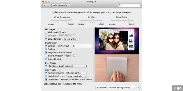 Mac-OS X Lion: Multi Touch