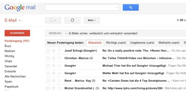 Google Mail Redesign