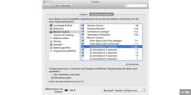 Schreibtische in Lion über Tastatur umschalten Macwelt