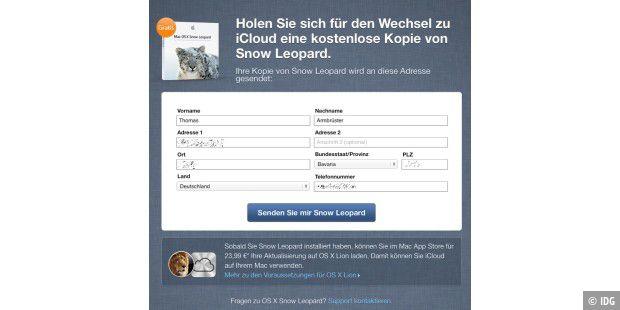 Snow Leopard kostenlos für alle Mobile-Me-Nutzer - auch in