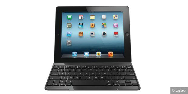 iPad mit Ultrathin Keyboard Cover von Logitech