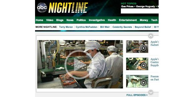 ABC Nightline bei Foxconn