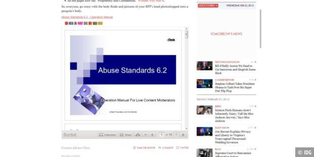 Internes Facebook-Dokument soll Brustwarzen verbieten (c) IDG/gawker.com