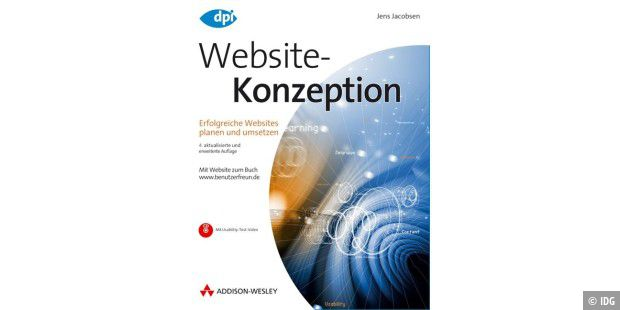 Buchcover: Websitekonzeption