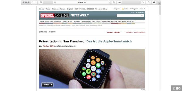 Spiegel Online Apple Watch