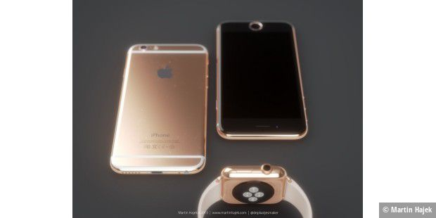 Konzept: iPhone 6s in Roségold