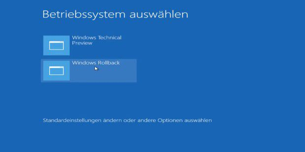 Auf Windows 10 TP updaten und downgraden - so geht's