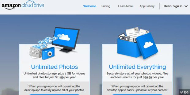 Amazon Cloud Drive bietet zwei neue Unlimited-Tarife
