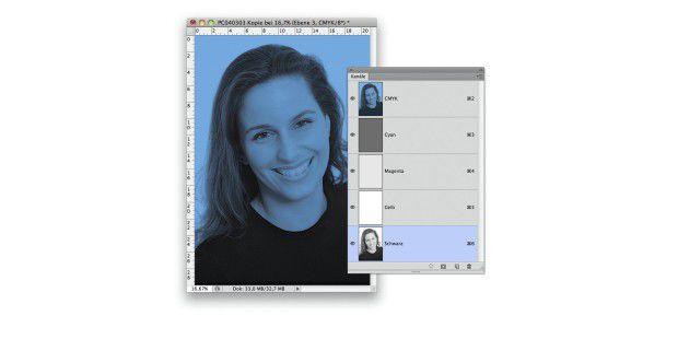 Für einen Duplexeffekt mit hinterlegter Farbfläche bietet der CMYK-Modus mehr Kontrollmöglichkeiten als der RGB-Modus.