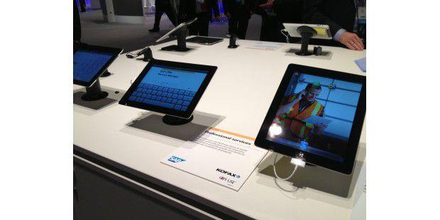 Auf der SAP-Messe gibt es zahlreiche Firmenlösungen für das iPad zu sehen.