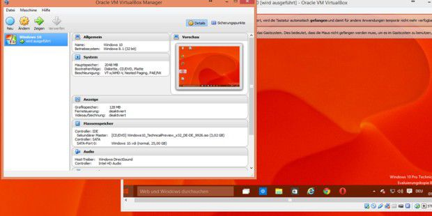 Windows 10 TP Build 10049 in VirtualBox