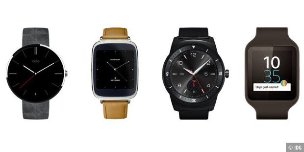 Smartwatches mit Android Wear