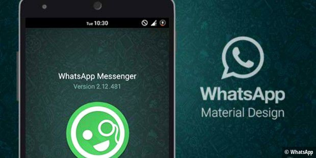 Den WhatsApp-Messenger gibt es nun in einer Betaversion im Material-Design zu bestaunen.