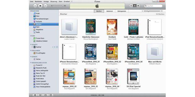 Startet man iTunes und zieht das Dokument in die Seitenleiste, wird es in die Mediathek aufgenommen.