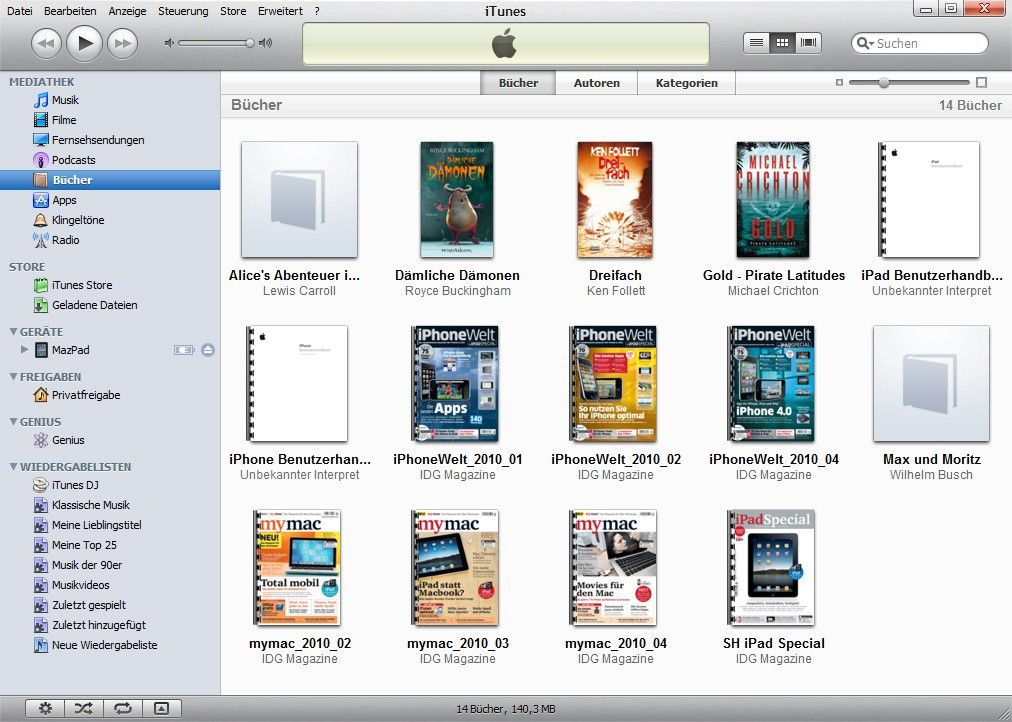 itunes upload pdf to ipad