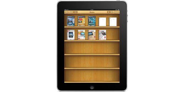 Die hauseigene App iBooks kann auch die PDF-Dokumente verwalten, die man nicht im iTunes Store gekauft hat.