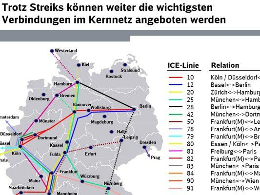 Notfallfahrplan Bahn Streik