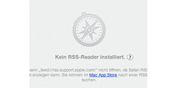 Safari 6 zeigt keine RSS-Seiten mehr an und man muss zum Lesen der Kurznachrichten ein eigenes Programm installieren.