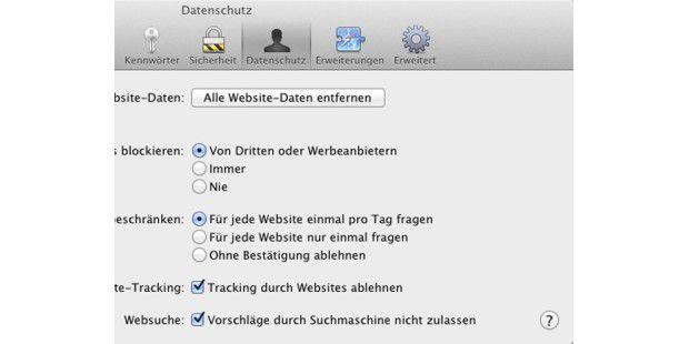 """Soll eine Suchmaschine keine Vorschläge machen, lässt sich dies in den Vorgaben unter """"Datenschutz"""" ausschalten."""