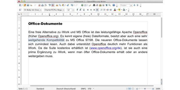 Eine prima Office-Lösung für Mac und PC mit großer Kompatibilität zum Microsoft-Paket ist Openoffice.