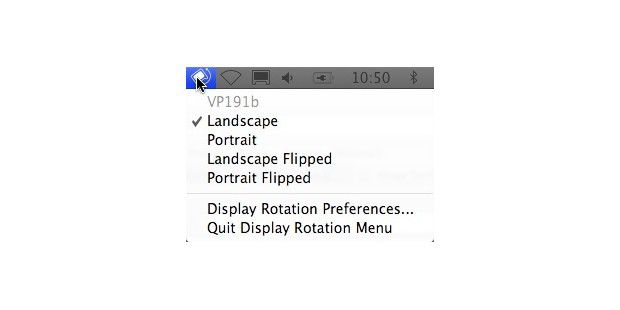 Display Rotation Menu