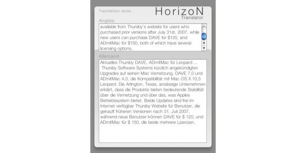 Horizon Translator