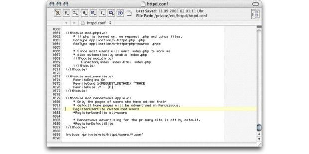 BBEdit 8 Language Kolorierung