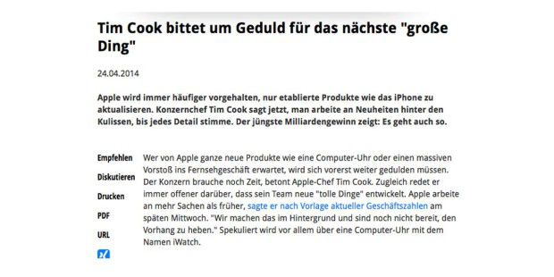 Presseschau zur Apple-Bilanz