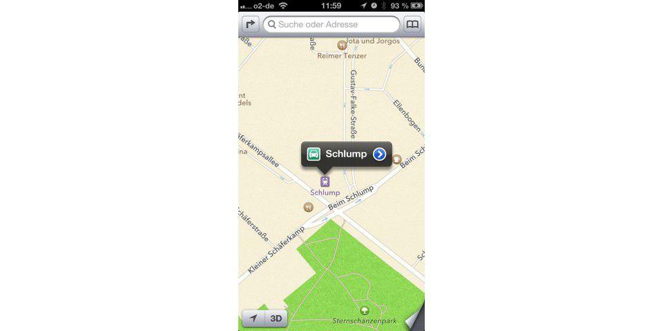 Karten auf dem iPhone selbst verbessern