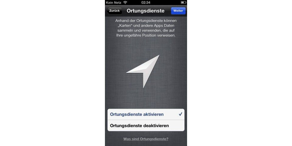 Ortungsdienste in iOS 6