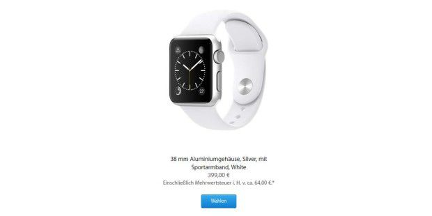 Apple Watch Sport: Nur 75 Euro Materialkosten