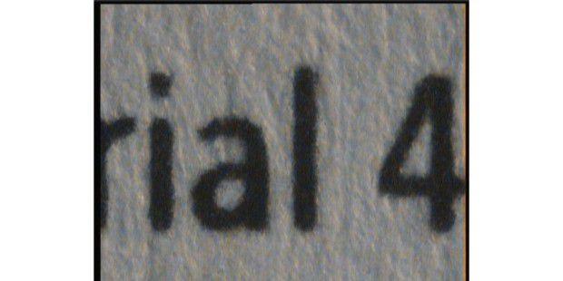 Scharfe Buchstaben - selbst in der Nahaufnahme: HP Laserjet Pro M252dw