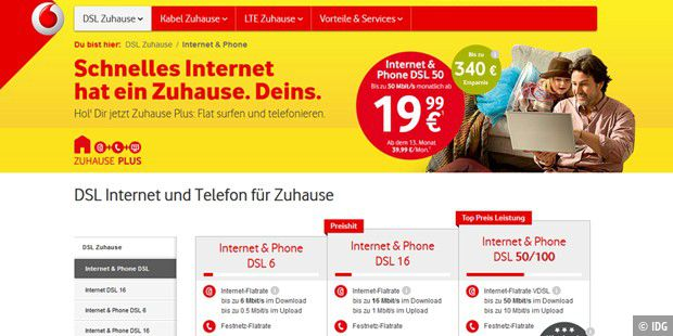 Vodafone macht DSL-Anschlüsse gratis schneller - PC-WELT on