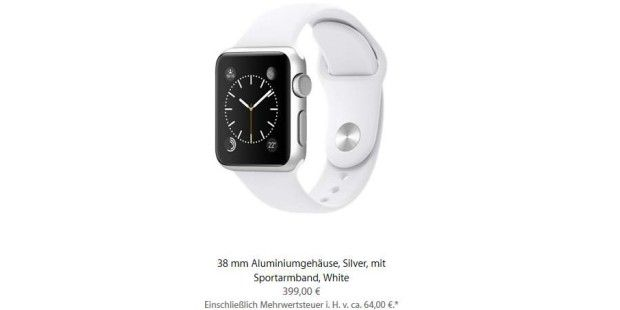 Apple Watch Sport: Nur 75 Euro Materialkosten (c) Apple