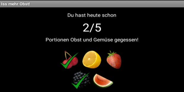 Iss mehr Obst!