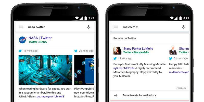mobile google suche zeigt tweets pc welt. Black Bedroom Furniture Sets. Home Design Ideas