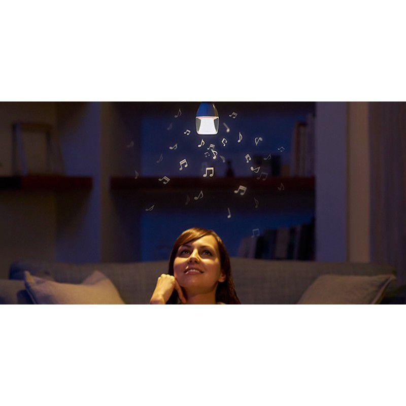 LED Glühbirne von Sony mit schwarzer Fassung und transparentem Lampenschirm