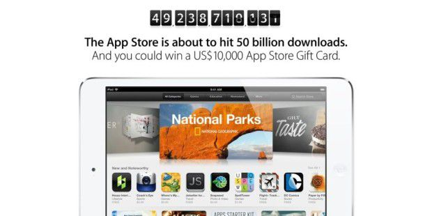 Apple belohnt 50 Milliarden App-Downloads