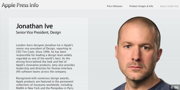 Jonathan Ive wird Chief Design Officer