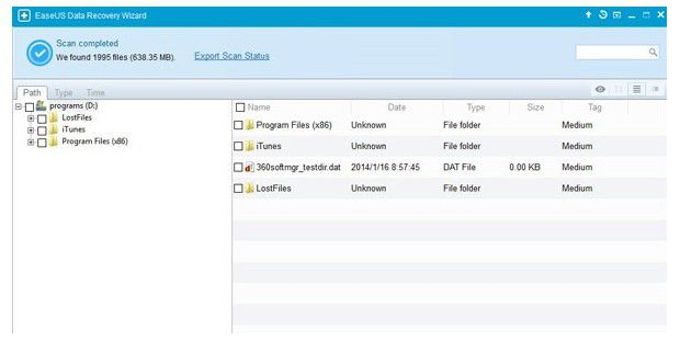 Datenrettung: Easeus Data Recovery Wizard