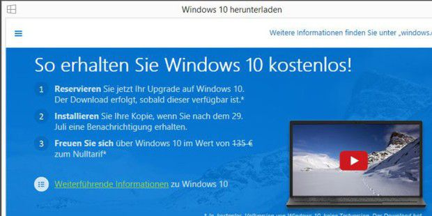 Windows 10 Home für 135 Euro?